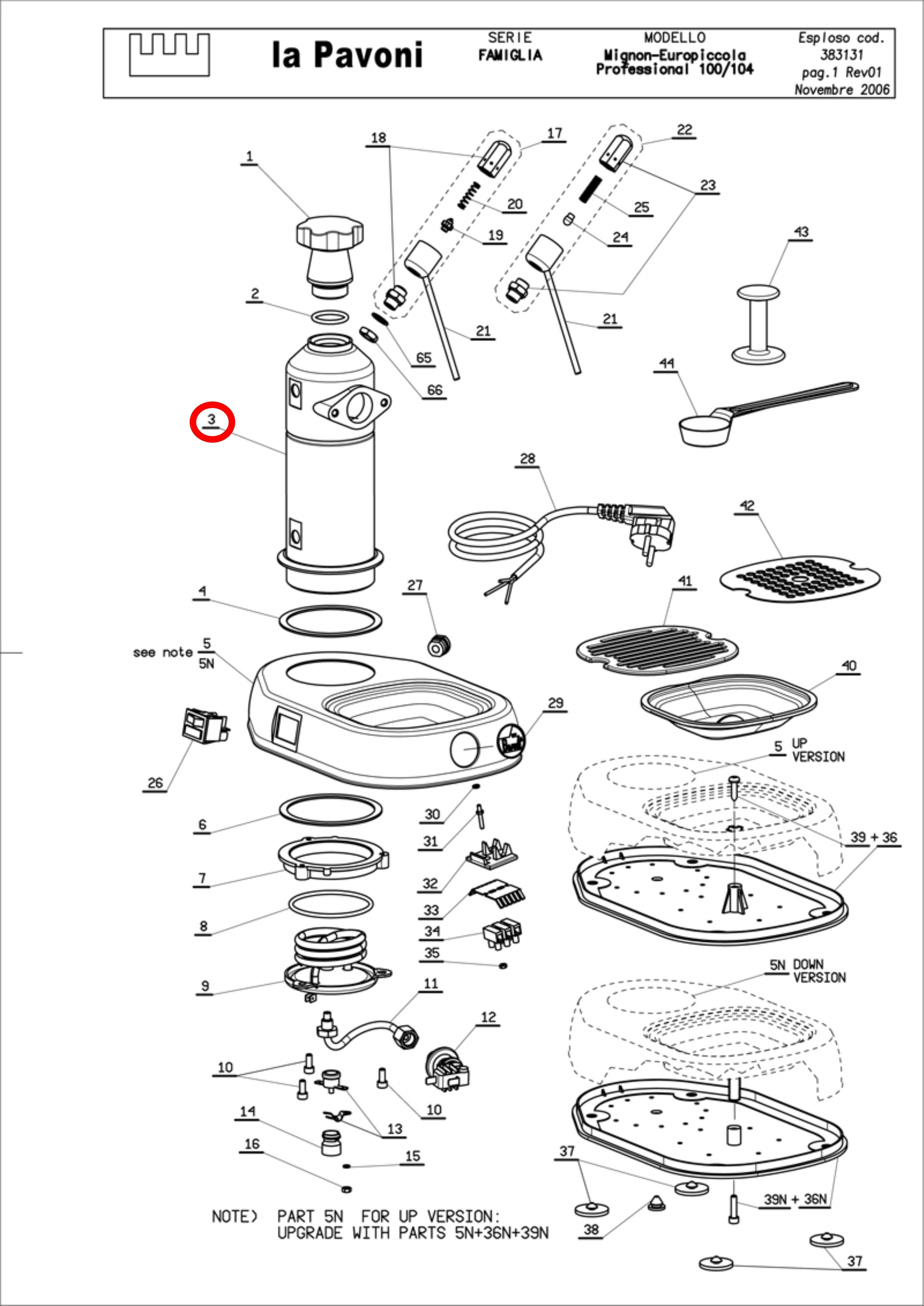 Pavoni Reparatur / Repair & Spare parts shipping / Ersatzteil ...